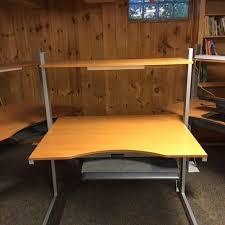 Ikea Jerker Desk Instructions Find More Ikea Jerker Desk W Extra Shelves Adjust Height To Sit