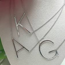 initials necklace silver necklaces page 1 zoky doky