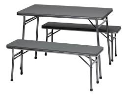 coleman folding table and bench 3 piece set