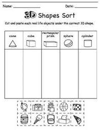 matching shapes shape matching cut and paste worksheet mckenna