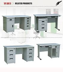 Office Desk With Locking Drawers Computer Desk With Locking Drawer Light Grey Steel Cpu Storage