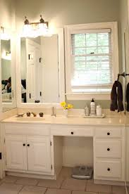 Frame Around Bathroom Mirror by The Blue House Chronicles Amazing Master Bath Transformation