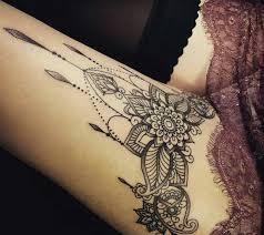 tatto ideas 2017 gorgeous ornamental design on thigh