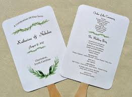 ceremony fans wedding program fan wedding programs wedding fans