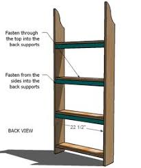 Furniture Plans Bookcase Free by Add A Back And Wheels And Turn Into Sliding Spice Rack Beside