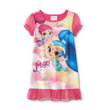 nickelodeon shimmer shine toddler s nightgown
