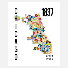 The Bean Chicago Map by Chicago Neighborhood Map By Jennifer Hill Chicago Pinterest