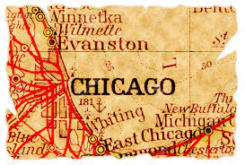 Chicago Illinois Map by Chicago Illinois On An Old Torn Map From 1949 Isolated Part