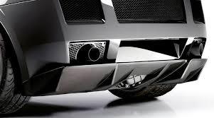 lamborghini gallardo rear elite carbon fiber superleggera style rear diffuser lamborghini