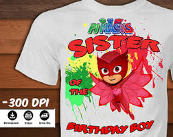 pj masks birthday shirt printable pj masks iron transfer