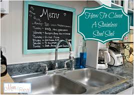 Cleaning Kitchen Sink by How To Clean Your Stainless Steel Kitchen Sink Mom 4 Real