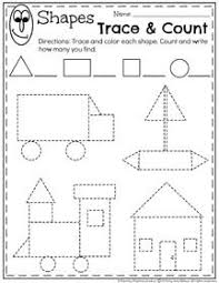pre k math shapes matching worksheet shapes pinterest shapes