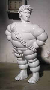pop fiction u201d sculpture by francesco molfetta david bibendum