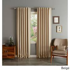 Style Selections Thermal Blackout Curtains Insulated Thermal Blackout 84 Inch Curtain Panel Pair Overstock
