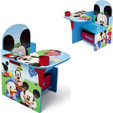 mickey mouse desk w storage toddler kids chair play study