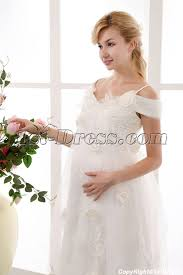 Pregnancy Wedding Dresses Pretty Affordable Off Shoulder Maternity Wedding Dresses 1st Dress Com