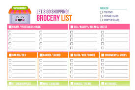 printable household shopping list free printable grocery list templates new shop addition by