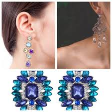 Crystal Chandelier Earrings Beadfeast Blue Chandelier Earrings At Home And Interior Design Ideas
