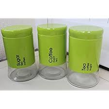 lime green kitchen canisters naranjado tea coffee and sugar canister set lime green enamel