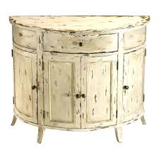 Half Moon Side Table Side Table Half Moon Side Table Appealing Distressed White