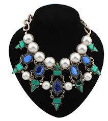 chunky pearl crystal necklace images New spx5275 fashion amazing crystal bib bead collar statement big jpg