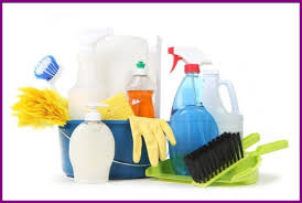 Kitchen Cabinet Cleaning Service Best Top View Of Cleaning Supplies And Equipment Stored In Drawer