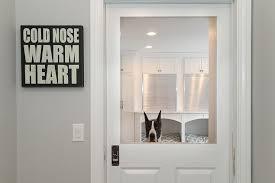Glass Door With Dog Door Built In by Pet Friendly Laundry Rooms Design Ideas