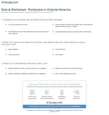 quiz u0026 worksheet puritanism in colonial america study com