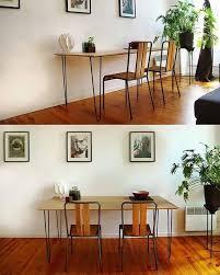 bureau deux personnes bureau pour deux personnes réalisé avec une planche en bois et 4