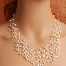 pearls necklace online images Baroque pearl necklace pearl floating necklace 2016 fashion women jpg