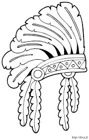 coloriage à imprimer une coiffe indienne dory fr coloriages