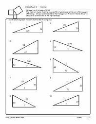 pythagorean u0027s theorem worksheets