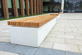 public bench contemporary wooden galvanized steel soca