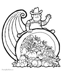 thanksgiving corucopia coloring