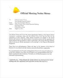 Business Letter Memorandum Example 7 Meeting Memo Examples Samples