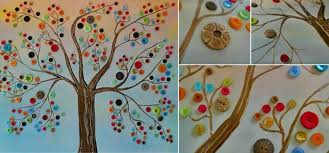 bring to your walls with this 3 d button tree