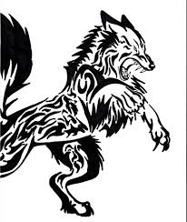 tribal wolf designs