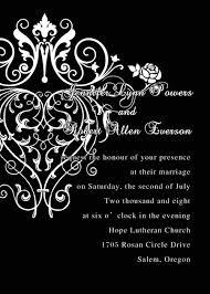 Black Wedding Invitations Cheap Classic Black And White Chandelier Scroll Wedding