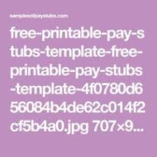 check stubs pay stub template pinterest template