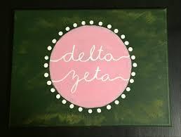 best 25 delta zeta crafts ideas on pinterest delta zeta canvas