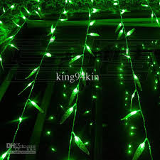 cheap 300 led lights 3m 3m salix leaf curtain light flash