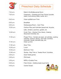 good schedule for preschool program play to learn pinterest free
