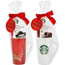 hot chocolate gift set starbucks mug with hot cocoa gift set set of 1 mug