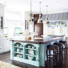 kitchens with different colored islands kitchen island makeover duck egg blue chalk paint island