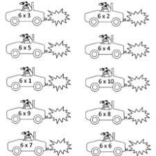 10 free printable multiplication coloring sheets