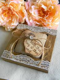 with this ring i thee wed rustic ring bearer pillow burlap pillow wood unique rustic