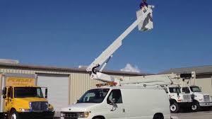 for sale altec bucket truck e350 van royal crane florida youtube
