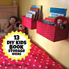 Wall Shelf For Kids Room by A Diy Wall Book Display With Baskets 12 More Kid U0027s Book Storage