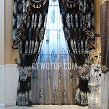 Blue Curtain Valance Blue And Coffee Luxury Blackout Curtains Online No Include Valance