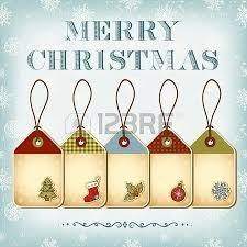karácsonyi címkék és vintage betűkkel merry royalty free